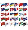 graphic design flags vector image