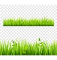 Grass Border Tileable Transparent vector image vector image