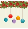 happy merry christmas balls vector image