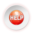 Help Button vector image vector image