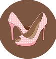 High heel icon vector image vector image