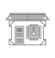 House with one window icon outline style vector image vector image