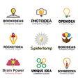 Ideas lamp Symbol Design vector image vector image