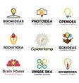 Ideas lamp Symbol Design vector image vector image