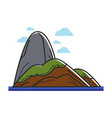 island with big stone vector image vector image