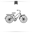 kid doodle of bicycle with isolated vector image