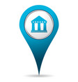 location bank icon vector image