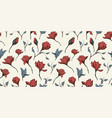 magnolia flower textile skecth with ink hand drawn vector image vector image