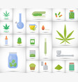 marijuana or cannabis flat icon set vector image vector image