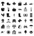 mushroom icons set simple style vector image