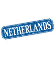 netherlands blue square grunge retro style sign vector image vector image