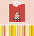 new baby shower card with cow vector image vector image