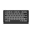 pc keyboard device vector image vector image