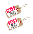 price tag sale 70 50 special offer image vector image vector image