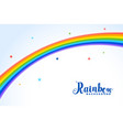 rainbow background with colorful stars vector image vector image