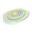 rainbow wave line vector image