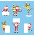 Santa Claus and Christmas reindeer Funny cartoon vector image vector image