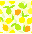 seamless summer pattern with whole yellow vector image