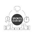 set flat icon trophy and medal sport vector image vector image