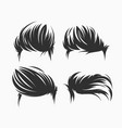 set men hairstyle and haircuts isolated vector image vector image