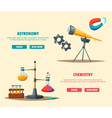 Set of science logo Cartoon Education theme vector image vector image