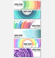set of six colorful abstract header banners vector image vector image