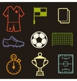 Set of sports soccer football symbols vector image vector image