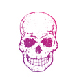 skull with gradient on white t-shirt print with vector image vector image