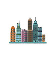 skyscrapers buildings towers city business vector image