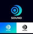 sound logo musical acoustics logo vector image