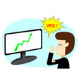 successful businessman in stock market art vector image