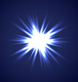 sun burst on blue background vector image vector image