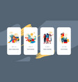 travel onboard screen mobile app ui mockup with vector image vector image
