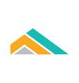 triangle stripe company logo vector image vector image