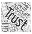 Trust Starts with You text background wordcloud vector image vector image