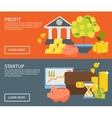 Two Investment Banner Set vector image