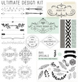 ULTIMATE DESIGN ELEMENTS KIT vector image vector image