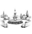 water fountain in park vector image vector image