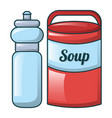 water soup icon cartoon style vector image vector image