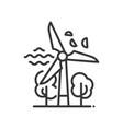 windmill - modern single line icon vector image vector image
