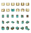 Office books and folders icons set vector image