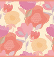 abstract pastel color floral seamless pattern vector image vector image