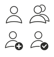 Account icon set vector image vector image