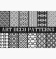 art deco patterns vector image vector image