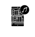 audio books black icon sign on isolated vector image vector image