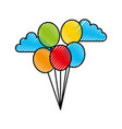 balloons party isolated icon vector image vector image