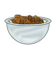 bowl with cereal icon vector image vector image