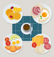 breakfast food healthy everyday products menu vector image