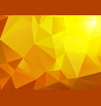 bright yellow sun triangular background vector image vector image