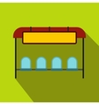 Bus stop station icon flat style vector image
